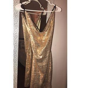 Gold Elegant Dress✨
